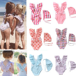 INS Children's Swimsuit Girls Girls One-Piece Swimwear Korea Baby Maternal and Child Shop Princess Girls Baby Swimwear