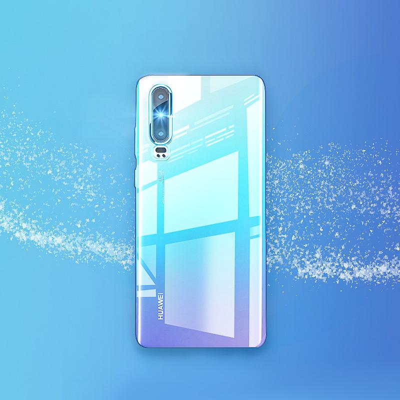 华为p20/p30pro手机壳mate30pro保护套Nova4/5por超薄透明mate30气囊防摔外壳硅胶裸机手感全包限量版玻璃女
