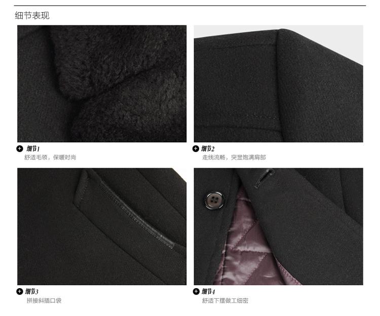 [Đặc biệt cung cấp] đậu đỏ nam áo khoác nam mùa đông thường phần dày dài của nam giới áo len 2031