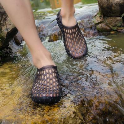 Mùa hè nam lỗ giày dép đi biển dép dép nam phiên bản Hàn Quốc của dép yến sào baotou đôi dép và dép giày sandal nam Sandal
