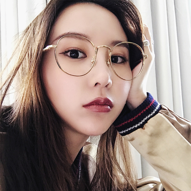 a2b1fb624f GM Korean version of ultra-light round glasses frame retro round ...