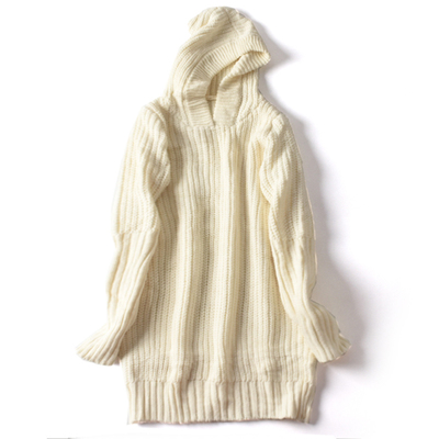 [50% OFF] Ladies Korean College Style Comfortable Knitted Hooded Hooded Dress IY0015