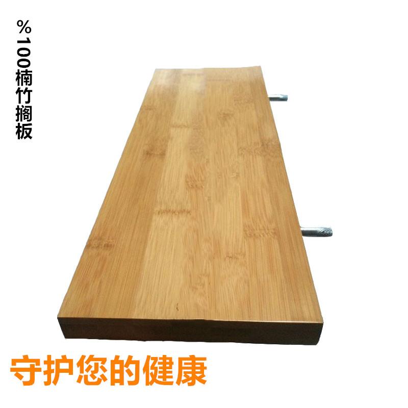定制壁挂隔板置物架搁板板墙一字墙壁实木书架上桌面厨房原木架竹