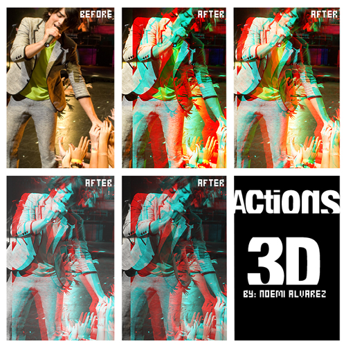 3D Effects Photoshop special effects Action 4 ps filter plug-in COS effects