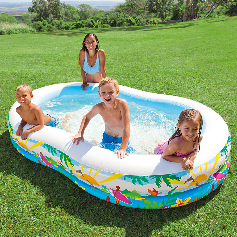USD 50.02] INTEX adult children swimming pool heightening family ...