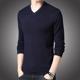 Thanh niên nam áo len dài tay V-cổ nam dày - Hàng dệt kim