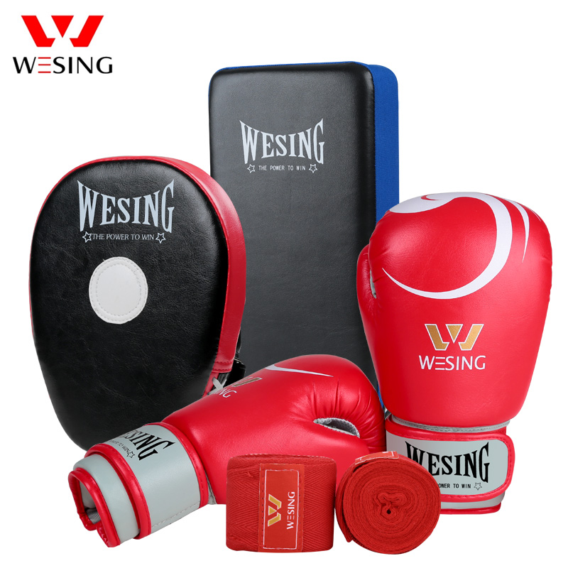 Wesing Boxing gloves with headgear sets boxing Martial Arts training equipments