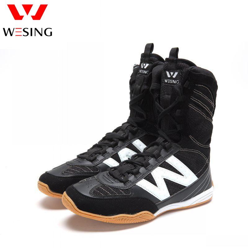 Обувь Jiurishan бокса мужской Боевые искусства конкурса боксерской обуви воздухопроницаемый Борьба с сеткой высокий высокие сапоги