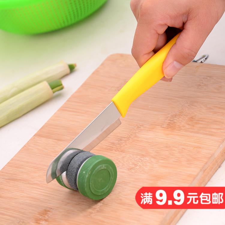 Круглый кухня домой быстро природный точильный камень япония мельница ножницы сын устройство кухонные ножи инструмент национальные промышленность ножницы палка