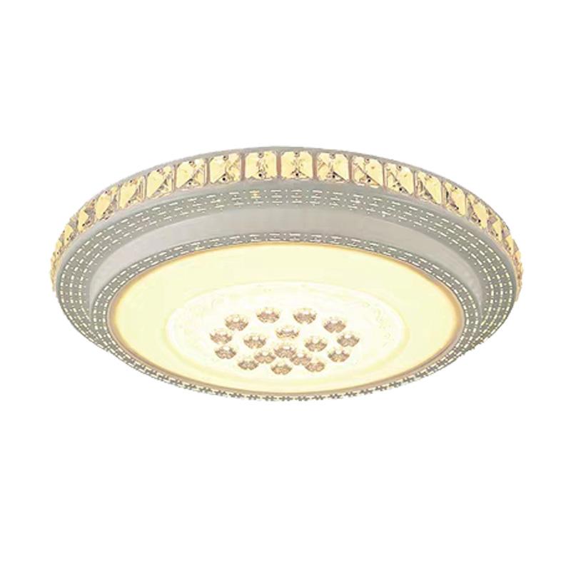 客厅灯水晶灯LED吸顶灯圆形卧室灯简约现代大气家用餐厅阳台灯具