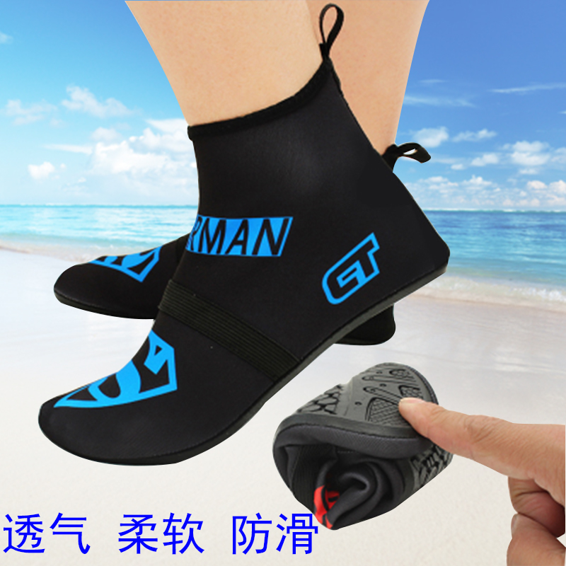 Мужской и женщины песчаный пляж поплавок скрытая плавать обувной для взрослых высокий дайвинг красный достаточно обувной скольжение противо косить паста кожа воздухопроницаемый мягкий обувной носок трубка