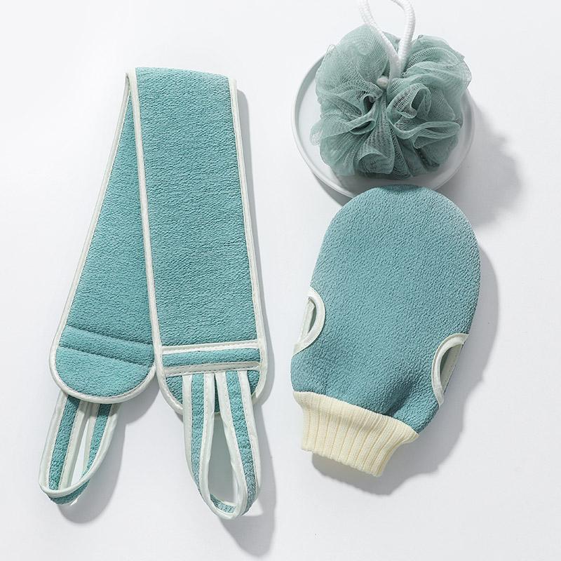 搓澡洗澡巾双面女士男士浴擦家用强力搓泥搓后背长条搓背神器手套