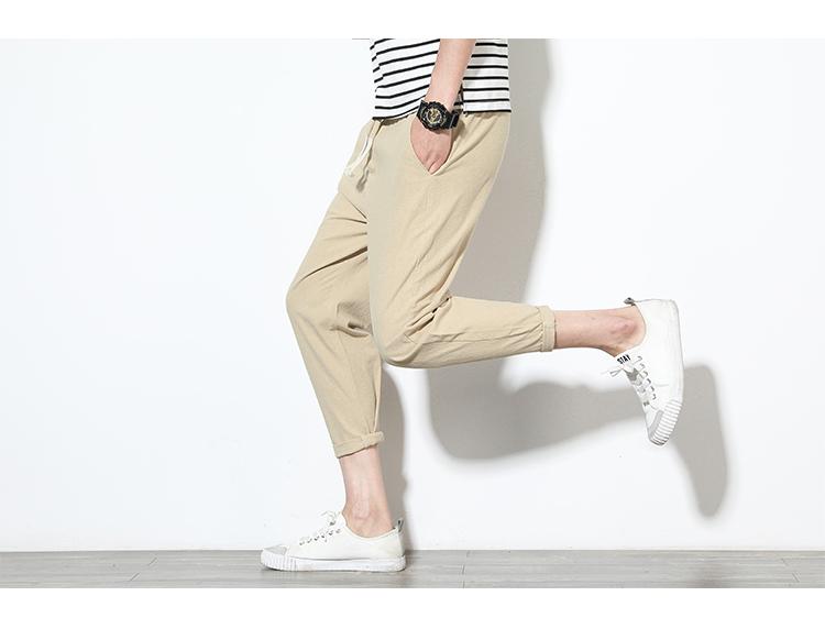 主推爆款男装束脚裤运动裤哈伦裤修身九分裤短裤七分裤子学生K35