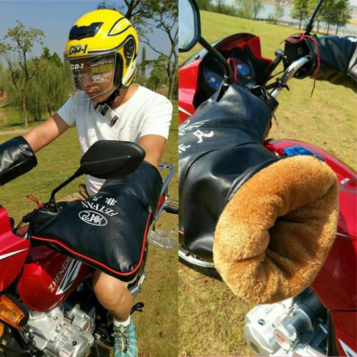 冬季125三轮摩托把套加厚a三轮防水电动车手摩托车护把套挡风护手