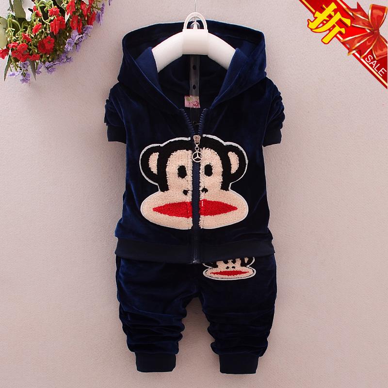 宝宝秋装男0-1岁潮套装3-6--12个月儿童运动套装2016新款婴儿衣服
