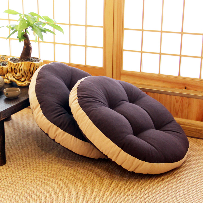 Cotton And Linen Futon Cushion Fabric Thickened Japanese Garden Round Household Tea Ceremony Tatami Balcony