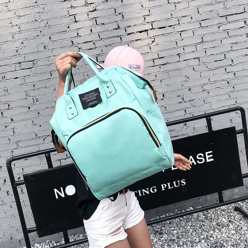 New waterproof ladies mummy bag large capacity backpack female Korean version of the tide simple portable youth bag travel bag
