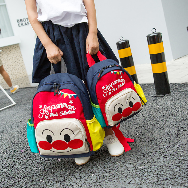 Backpack Korean cute cartoon primary school students boys and girls kindergarten bag Travel Backpack parent-child package