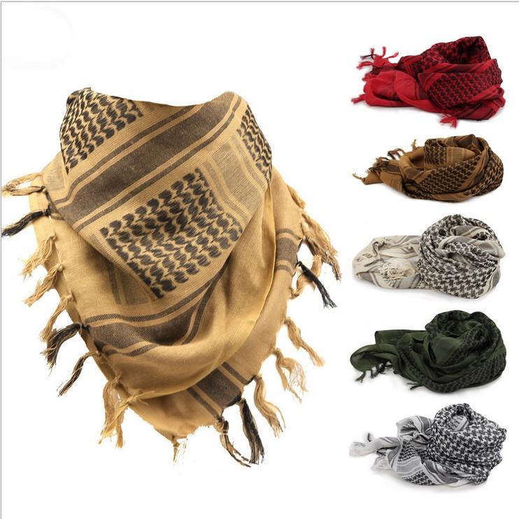 Хлопок 190 вес толстые модель армия регулирование арабский шарф полотенце солнцезащитный крем противо песок пыленепроницаемый нагрудник шарф играть вонь