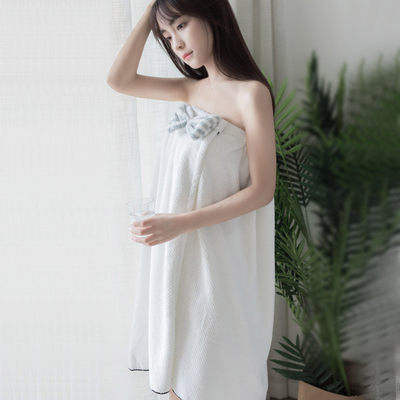 Exported to Japan, the bath skirt is enlarged, the soft sweat-steaming clothes, the cute tube top, the bathrobe can wear the water-absorbing and non-hairy bath towel.
