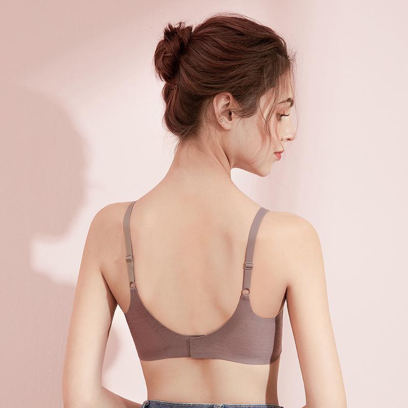 熳洁儿无痕内衣女夏季无钢圈文胸u型美背背心式睡眠胸罩2021爆款