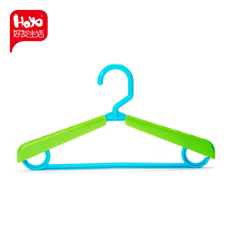 Hoyo Wide Shoulder No Trace Hanger Retractable Non Slip Hanger No Trace  Home Hanger Thickened Plastic Childrenu0027s Clothing Support