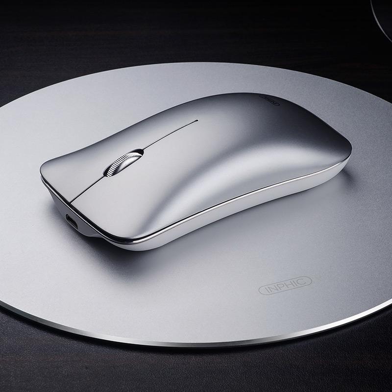 英菲克铝合金无线充电鼠标