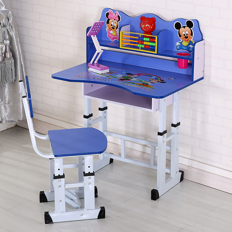 Childrenu0027s Study Table Kids Writing Desk And Chair Set Kindergarten Homework  Desk Student Desk Simple Baby ...
