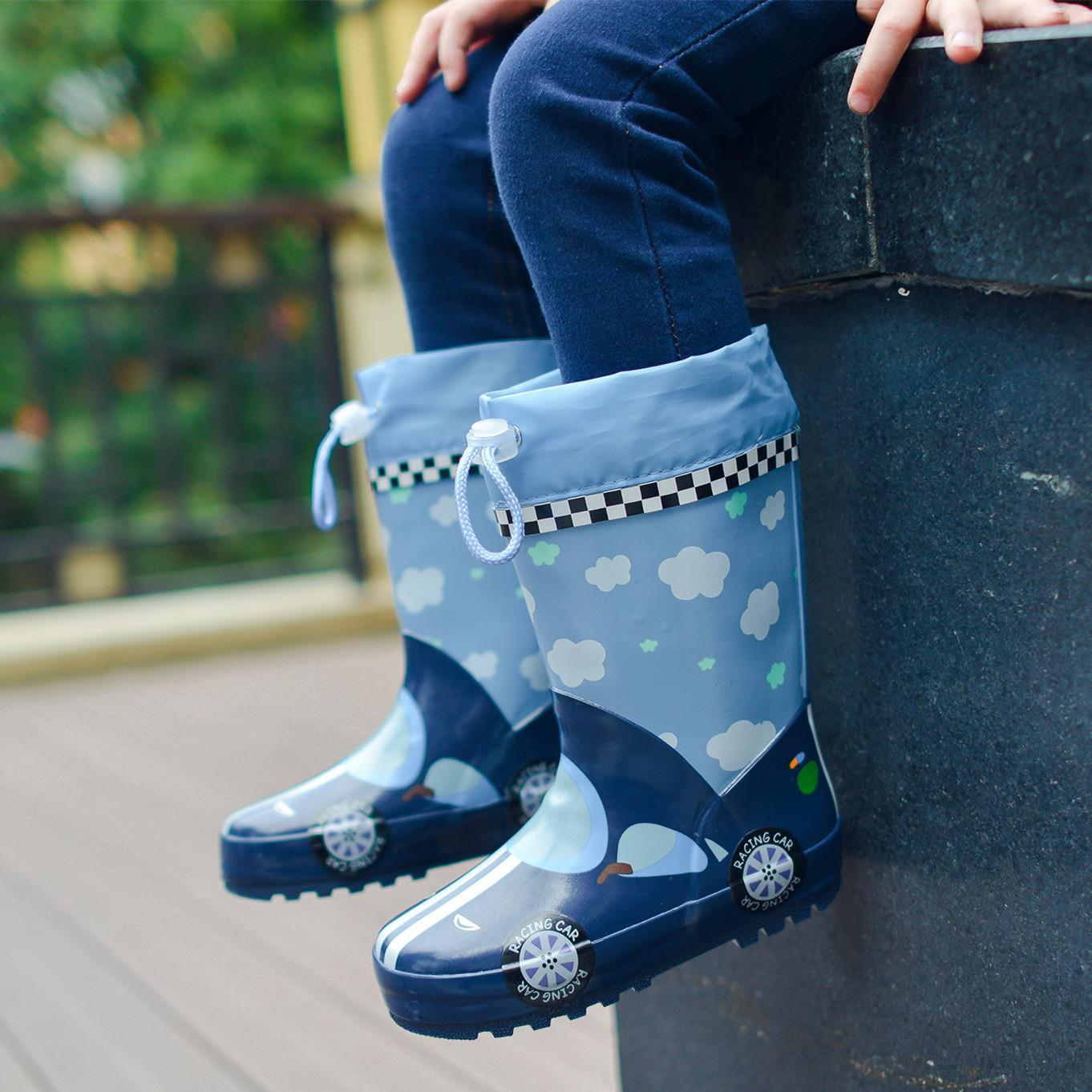 Детские Ботинки дождя на мальчика Резиновая обувь нескользящие Детские сапоги детей Чжунда детские Женские водные ботинки, дети, студенты, дети, четыре сезона, универсальные