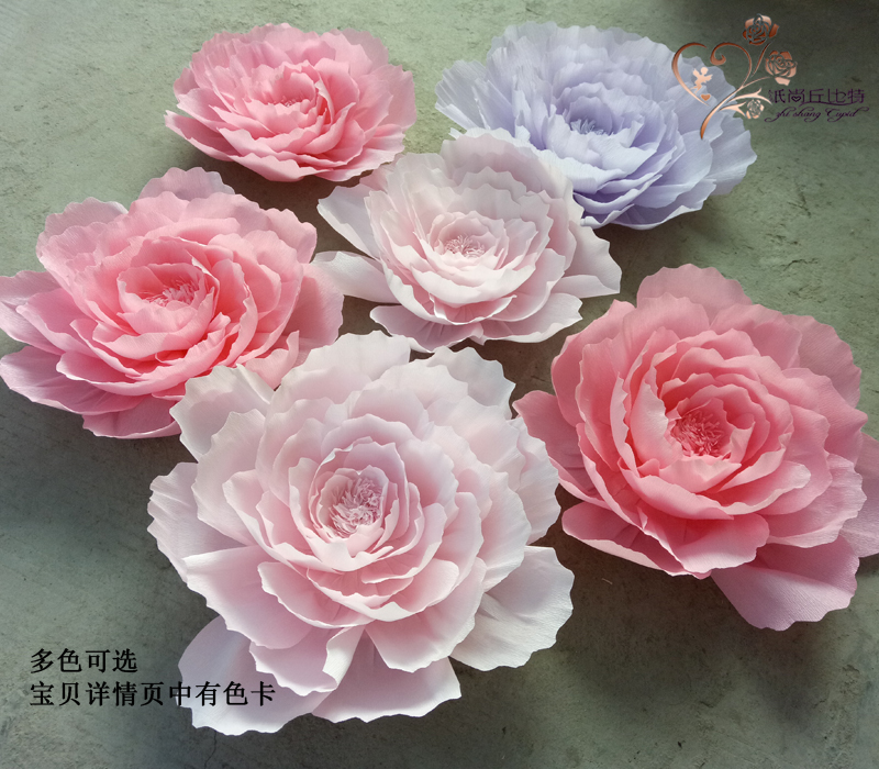 Usd 781 large wedding paper flower studio wedding activities scene large wedding paper flower studio wedding activities scene layout flat rose stage props crepe paper flowers mightylinksfo