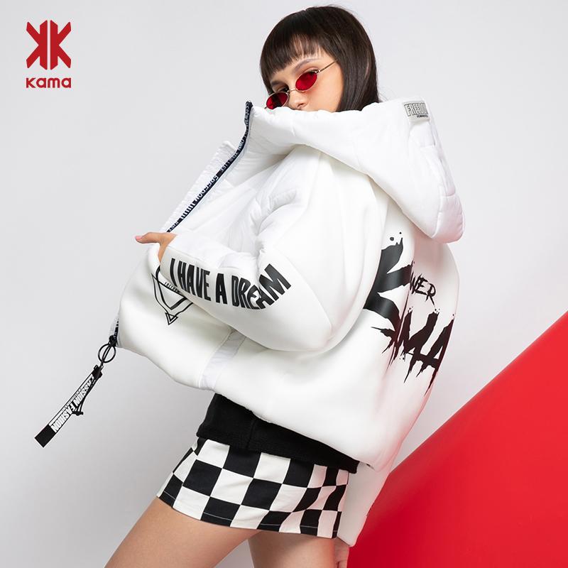【KAMA】卡玛连帽短款棉服宽松保暖棉衣-秒客网