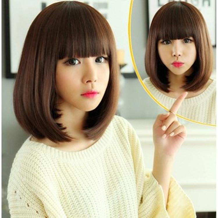 2020新款假发短发女士齐刘海bobo头逼真头套hair整顶发套时尚可爱