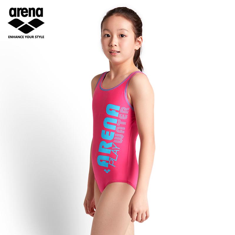 7dbeba9841 Arena children's swimwear girls swimwear Siamese professional training girls  teens big children JSS8413WJ