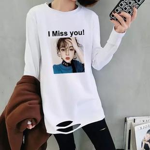 【小红书推荐】破洞不规则长袖t恤上衣