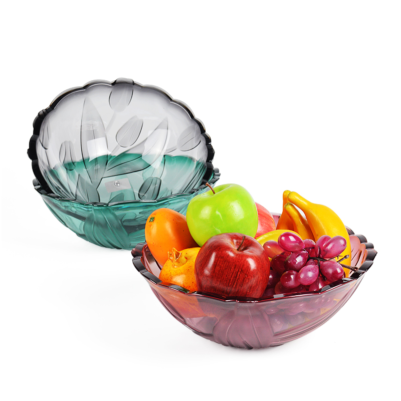 Modern Minimalist Creative Plastic Fruit Plate Home Dried Fruit Fruit Plate European Style Living Room Candy Fruit Bowl Cute Personality
