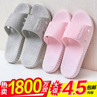 Внутреннее мягкое дно в японском стиле тапки Ванная комната нескользящие для влюбленной пары Носить холодный тапки Женское лето мужской Домашняя обувь