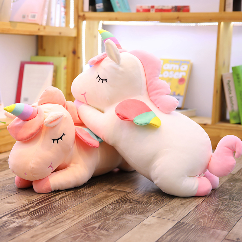 Unicorn pillow quilt dual-purpose ins net red girl heart multi-functional nap pillow coral velvet personality lovely girl