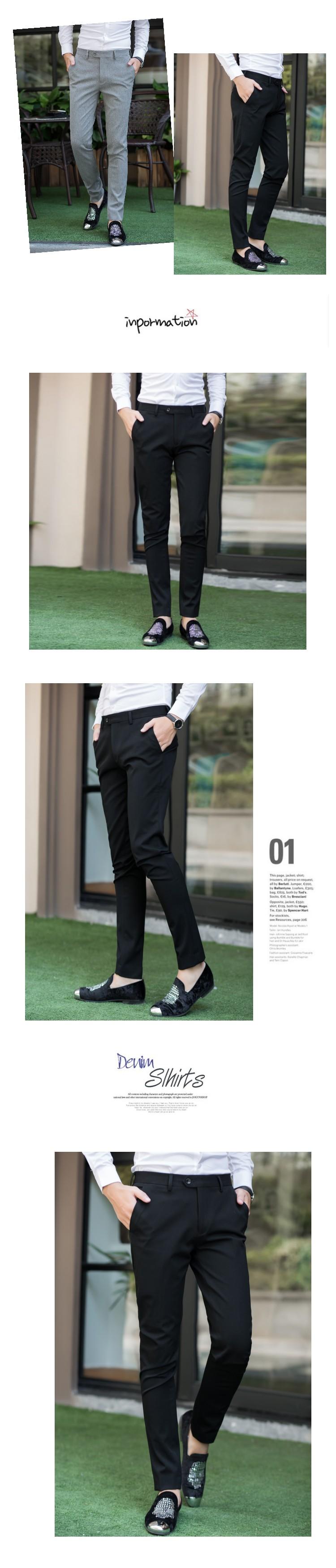 Của nam giới thường quần Hàn Quốc xu hướng thanh niên quần mỏng thủy triều quần của nam giới kinh doanh đơn giản chân thời trang quần