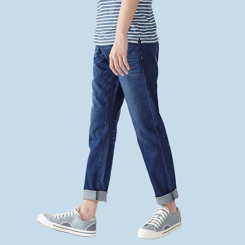 历史低价、环保冰丝纤维:2件 Vancl/凡客诚品 直筒小脚男士牛仔裤