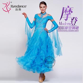 Платья,  Юньдаа танец платить дружба гигабайт производительность одежда современный производительность юбка конкуренция танец юбка большие качели платье длинный рукав уолл при этом, цена 17835 руб