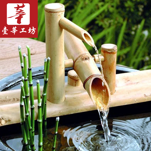 One Xen Mania Surprised Deer Bamboo Water Decoration Japanese Garden Bamboo Water Machine Indoor Bamboo Fountain