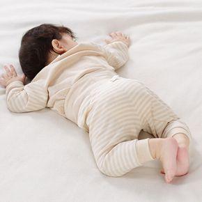 北极绒婴儿0-2岁男女宝宝高腰护肚裤