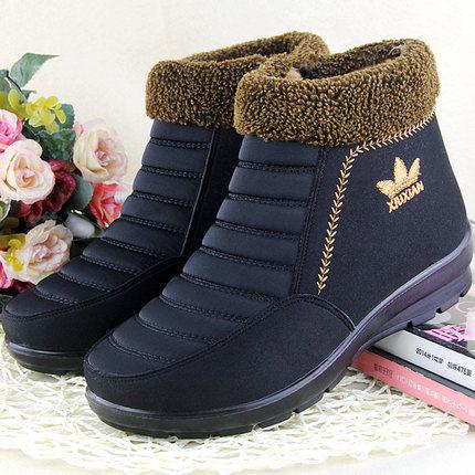 老北京棉鞋女冬季加绒老北京布鞋女冬天妈妈中老年人女式保暖鞋子
