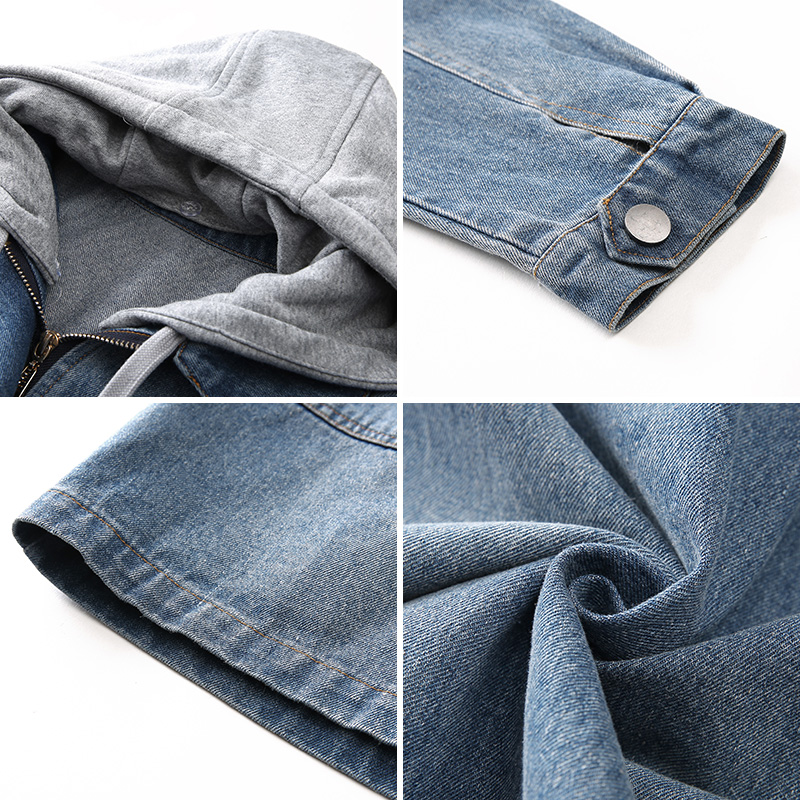 cfc23eeacfd1f ... lightbox moreview · lightbox moreview · lightbox moreview. PrevNext.  September Momo ink 2019 spring new women s hooded stitching long denim  jacket ...