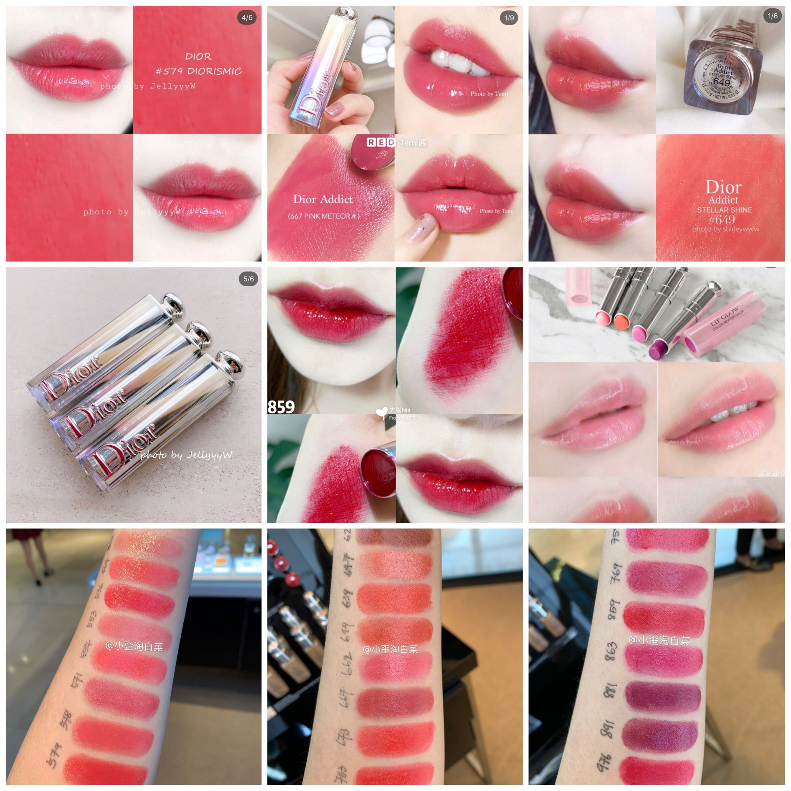size 40 d5dc5 27e58 dior glamour Color Lip Balm 001 # 004 star shine new supermodel 667 # 579 #  649 # 859#976