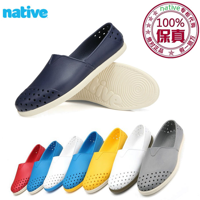 3ca507b1c8a9 Authentic native Shoes verona lazy hole shoes men and women beach shoes  lightweight breathable flat sandals