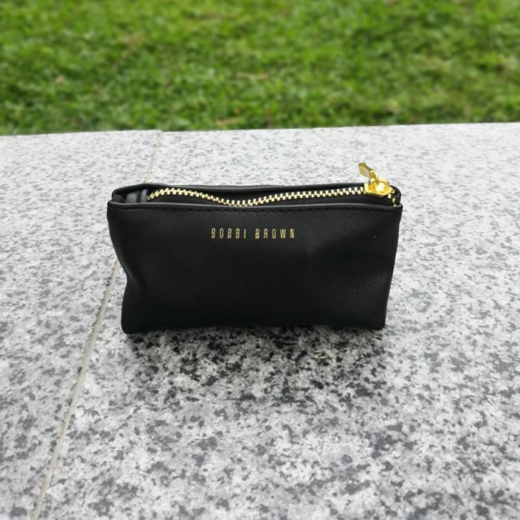 芭比波朗专柜赠品黑色迷你化妆包 口红包零钱包 小样护肤品收纳包