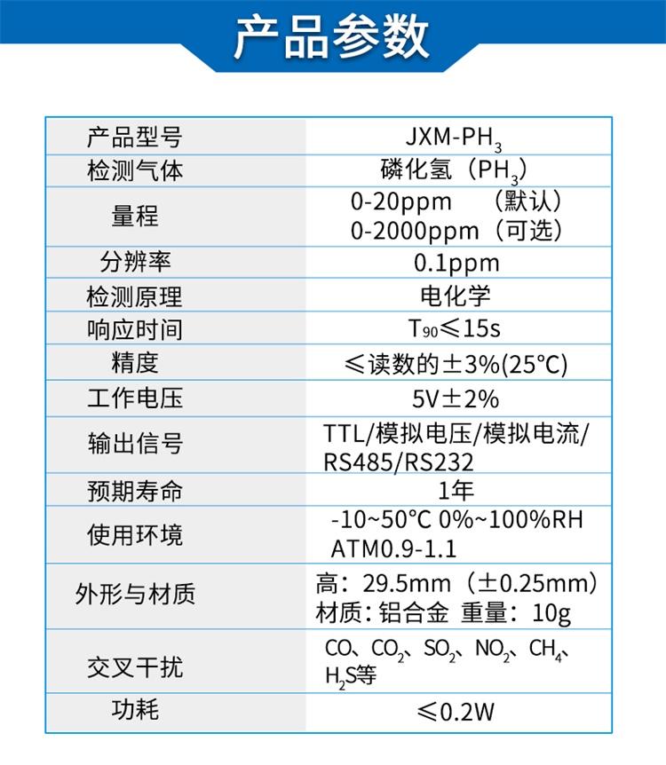 电化学磷化氢传感器