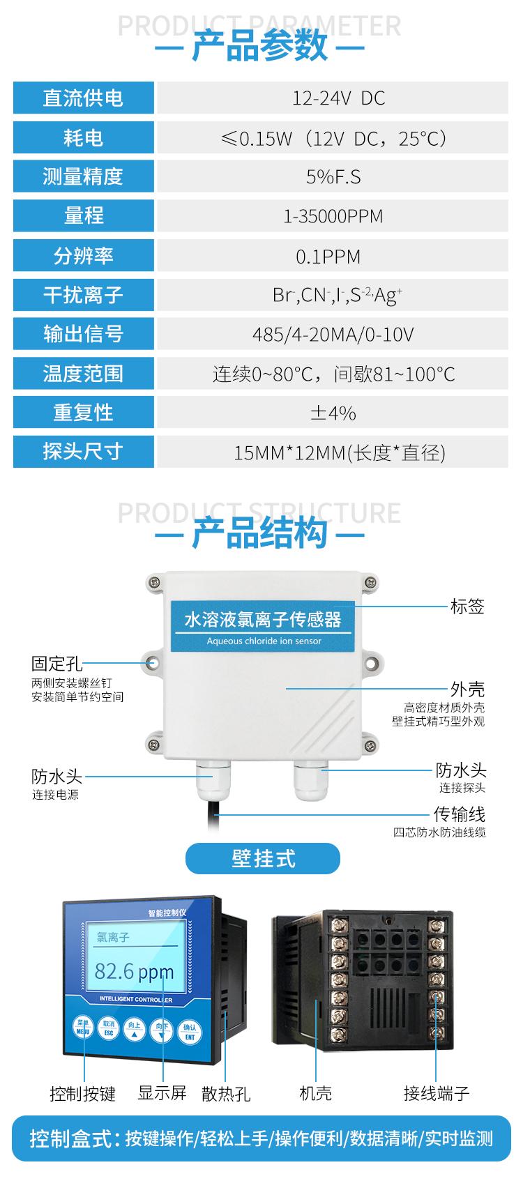 水质氯离子传感器