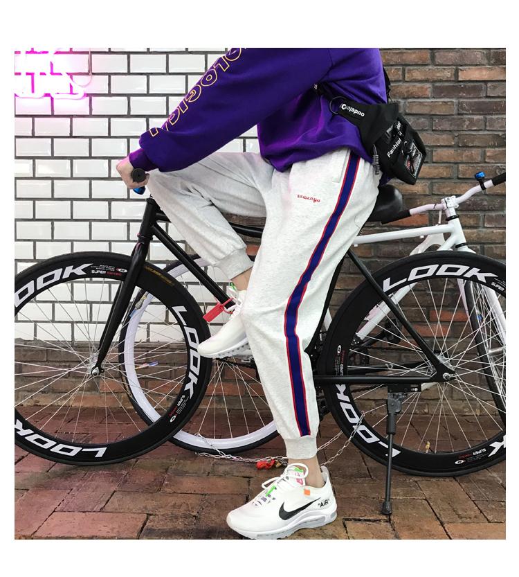 Mùa hè phần mỏng thể thao màu lỏng quần âu xu hướng Hàn Quốc phiên bản của Harlan feet chín quần của nam giới quần